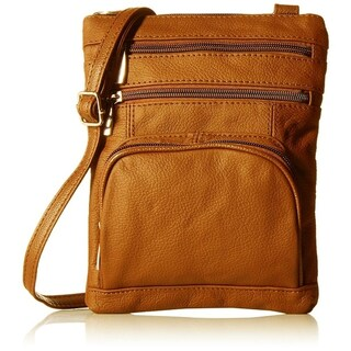 AFONiE Super Soft Leather Crossbody Bag - 8 Colors (Option: Tan)