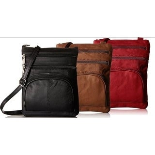 AFONiE Super Soft Leather Crossbody Bag - 8 Colors (More options available)