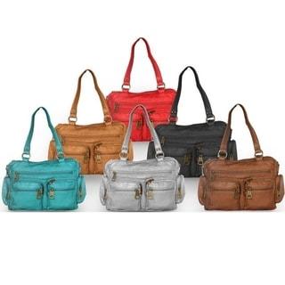 AFONiE Super Soft Washable Comfortable Shoulder or Crossbody Handbag