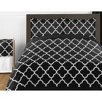 Sweet Jojo Designs Black and White Trellis Collection 4pc Twin Bedding Set