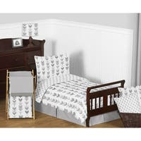 5pc Toddler Bedding Set for the Grey and White Mod Arrow Collection by Sweet Jojo Designs