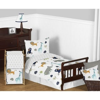 5pc Toddler Bedding Set for the Mod Jungle Collection by Sweet Jojo Designs