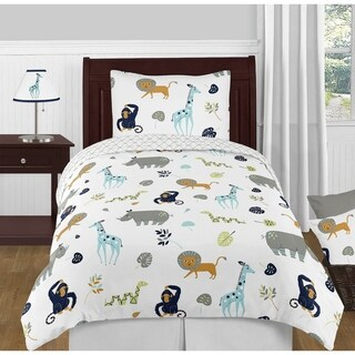 Link to 4pc Twin Bedding Set for the Mod Jungle Collection by Sweet Jojo Designs Similar Items in Kids Comforter Sets
