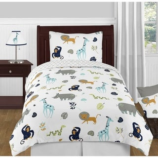 4pc Twin Bedding Set for the Mod Jungle Collection by Sweet Jojo Designs