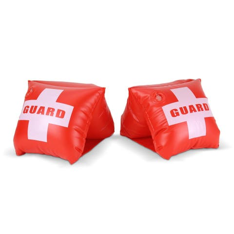 GoFloats Lifeguard Adult Water Wing Floaties - Own The Pool (Novelty USE ONLY)