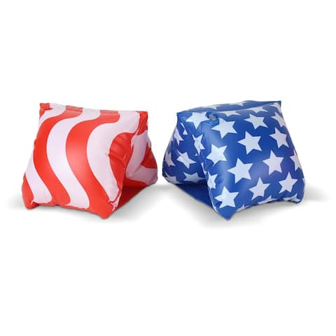 GoFloats America Flag Adult Water Wing Floaties - Own The Pool (Novelty USE ONLY)