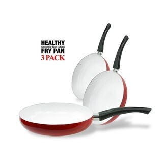 Healthy Eco-Friendly Nonstick Ceramic Frying Pan Set Fry Pans Set