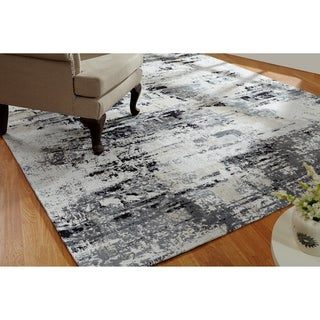 "Jardin Sand/Steel Hand Made Area Rug (2'6"" x 10')"