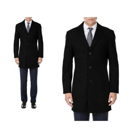 MDRN Uomo Men's Single Breasted Wool Blend Coats