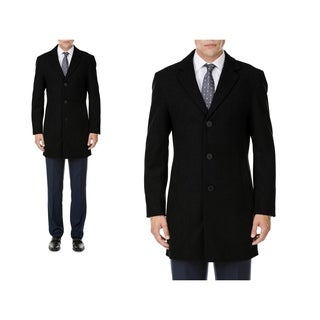 MDRN Uomo Men's Single Breasted Wool Blend Coats