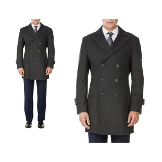 MDRN Uomo Men's Double Breasted Wool Blend Coats (More options available)