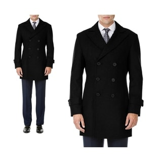 MDRN Uomo Men's Double Breasted Wool Blend Coats