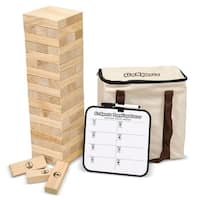 GoSports Large Toppling Tower with Bonus Rules - Starts at 1.5' and grows to over 3'