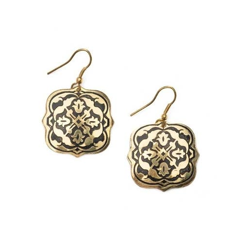 Handmade Arabesque Gold Earrings (India)