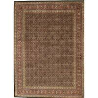 """Tabriz Collection Hand-Knotted Navy/Rust Wool Rug (12' 2"""" X 15' 3"""")"""