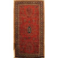 "Sarouk Collection Hand-Knotted Rust/Navy Wool Area Rug ( 8' 2"" X 15'11"")"