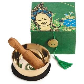 Handmade Meditation Bowl Box: 3'' Green Tara (Nepal)|https://ak1.ostkcdn.com/images/products/18129078/P24281628.jpg?impolicy=medium