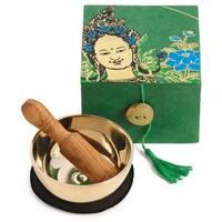 Handmade Meditation Bowl Box: 3'' Green Tara (Nepal)