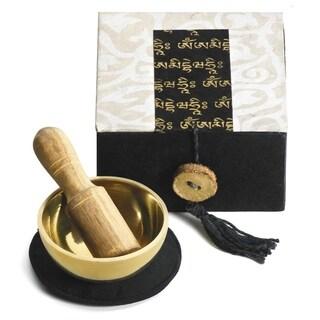 "Handmade Mini Meditation Bowl Box: 2"" Om Mani (Nepal)"
