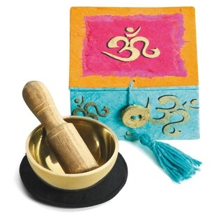 "Handmade Mini Meditation Bowl Box: 2"" Om (Tibet)"