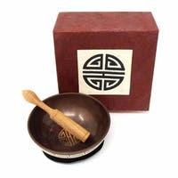 Handmade Meditation Bowl Box: 4'' Longevity (Nepal)