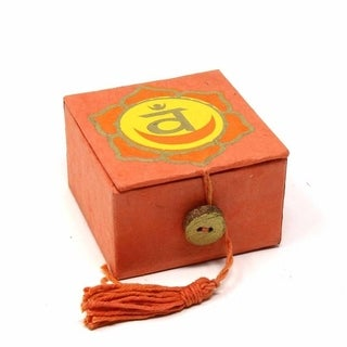 "Handmade Mini Meditation Bowl Box: 2"" Sacral Chakra (Nepal)"