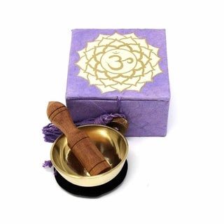 "Handmade Mini Meditation Bowl Box: 2"" Crown Chakra (Nepal)"