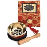 Handmade Meditation Bowl Box: 3'' Black Lotus (Nepal)