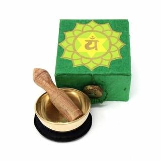 "Handmade Mini Meditation Bowl Box: 2"" Heart Chakra (Nepal)"