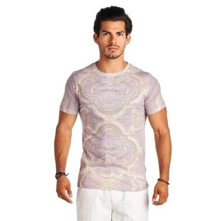 21 Men Purple Print Short Sleeve Shirt