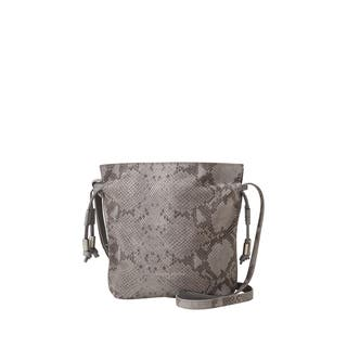 Liebeskind Berlin Norwalk Embossed Snake Grey Leather Drawstring Crossbody Handbag|https://ak1.ostkcdn.com/images/products/18129147/P24281697.jpg?impolicy=medium