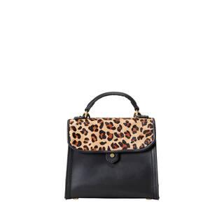 Liebeskind Berlin Glendale Leo Oil Black Calf Hair and Leather Mini Top-Handle Handbag|https://ak1.ostkcdn.com/images/products/18129161/P24281699.jpg?impolicy=medium