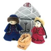 Handmade Felt Yurt Nativity  (Kyrgyzstan)
