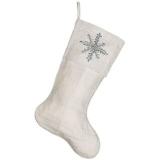 Holiday Snowflake Stocking