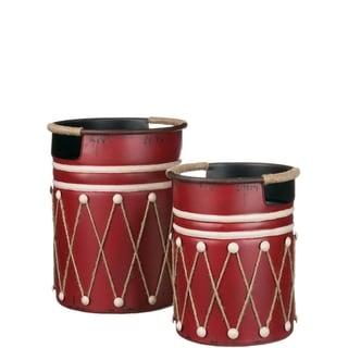 Holiday Drum Decor Set