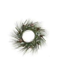 Long Needle Pine Wreath with Cones
