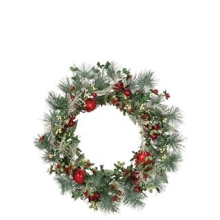 Pine Wreath with Berries & Bells