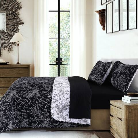 Vilano Ultra-Soft Lightweight WinterBrush 3-piece Quilt and Sham Set