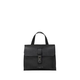Liebeskind Berlin Nevada Oil Black Pebbled Leather Mini Top-Handle Handbag|https://ak1.ostkcdn.com/images/products/18129283/P24281912.jpg?_ostk_perf_=percv&impolicy=medium