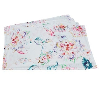 Primavera Collection Printed Floral Linen Placemat Set
