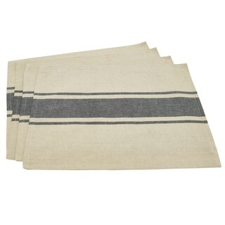 Classic Banded Stripe Design Cotton Placemat Set