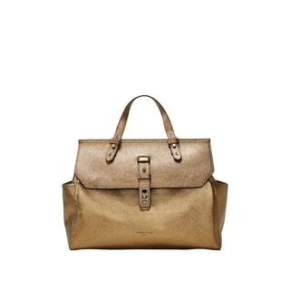 Liebeskind Berlin Idaho Beige Metallic Pebbled Leather Top-Handle Handbag|https://ak1.ostkcdn.com/images/products/18129429/P24281924.jpg?impolicy=medium