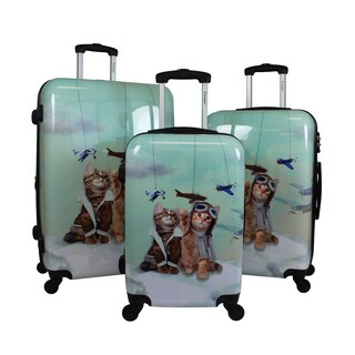 Chariot Toms Cat 3-Piece Hardside Lightweight Upright Spinner Luggage Set