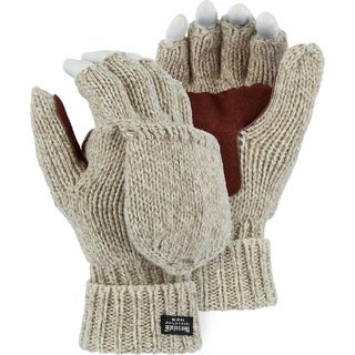 Majestic 3422P (XL) Two-Ply Ragg Wool Fingerless/Half Finger Thinsulate (40g) Lined Winter Work Glov