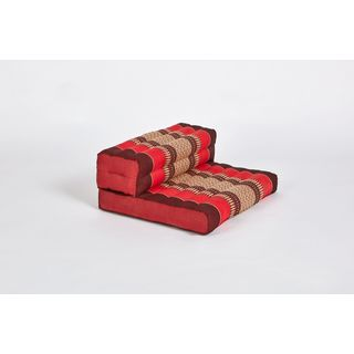 myZENhome Dhyana Meditation Cushion Red/Burgundy