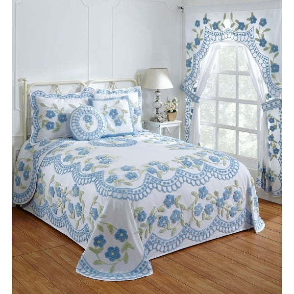 Shop Bloomfield Cotton Chenille Bedspread Set Or Separates On Sale