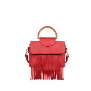 Mellow World Kaitlin Fringe Crossbody/Satchel Handbag