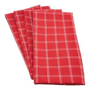 Box Plaid Windowpane Cotton Kitchen Towel - set of 4 pcs