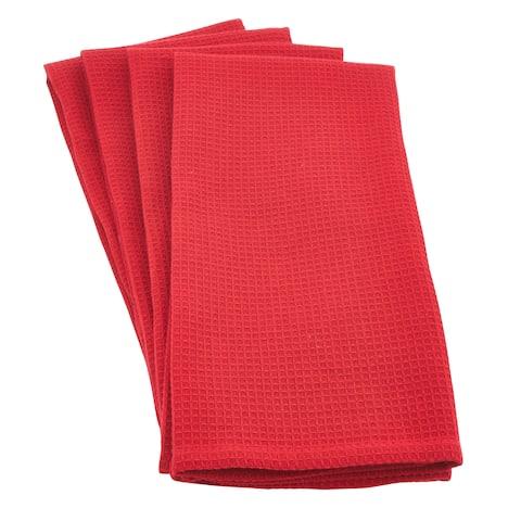 Woven Waffle Weave Cotton Kitchen Hand Towel - set of 4 pcs