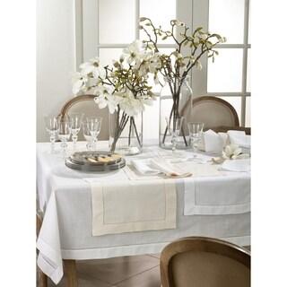 Classic Hemstitched Linen Blend Guest Towel - set of 12 pcs
